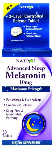 Dietary Supplement - Natrol Advanced Sleep Melatonin 10mg 60 TAB