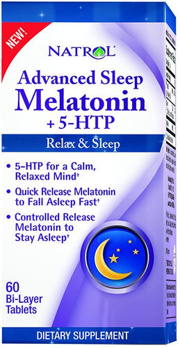 Dietary Supplement - Natrol Advanced Sleep Melatonin W/5-HTP 60 TAB