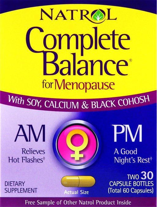 Dietary Supplement - Natrol Complete Balance AM/PM Menopause 2/30 C