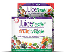 Dietary Supplement - Natrol JuiceFestiv - FruitFestiv + VeggieFestiv