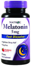Dietary Supplement - Natrol Melatonin 5mg Fast Diss Straw 90 TAB
