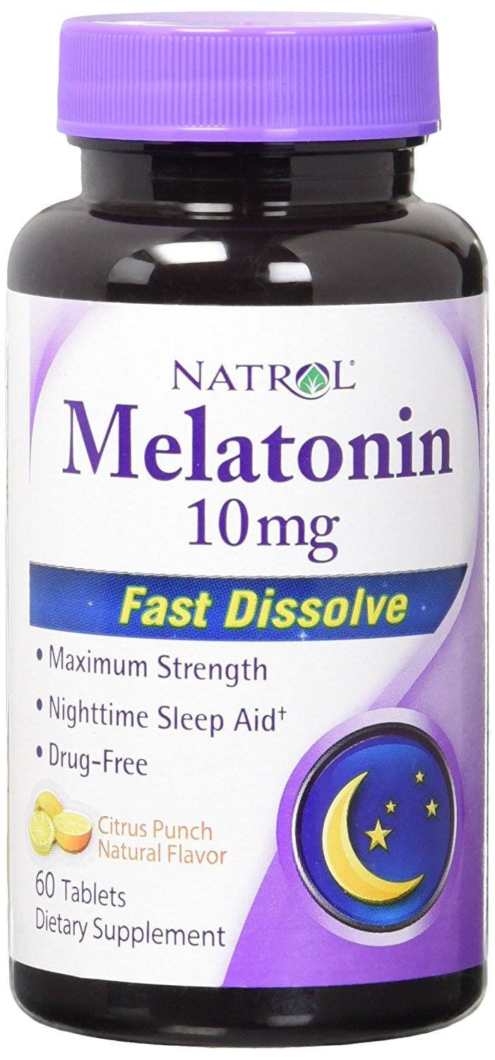 Dietary Supplement - Natrol Melatonin Quick-Dissolve Tablets 10 Mg