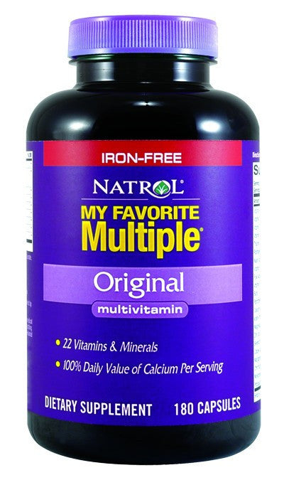 Dietary Supplement - Natrol My Favorite Multiple W/o Iron 180 CAP