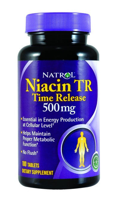 Dietary Supplement - Natrol Niacin 500mg Time Release 100 TAB
