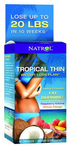 Dietary Supplement - Natrol Tropical Thin Weight Loss Plan 60 CAP