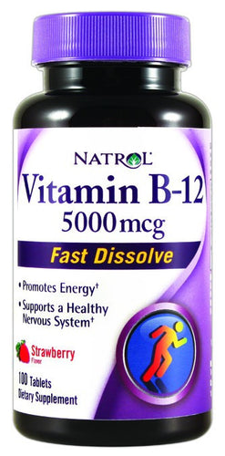 Dietary Supplement - Natrol Vitamin B12 5000mg Fast Dissolve 100 TAB