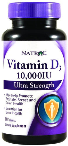Dietary Supplement - Natrol Vitamin D3 10,000 IU 60 TAB