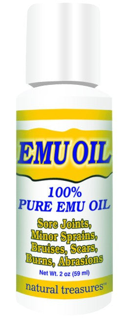 Dietary Supplement - Natural Treasures Emu Oil 100% Pure 2 OZ