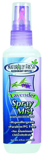 Dietary Supplement - Naturally Fresh Lavender Spray Mist Deodorant 4 OZ