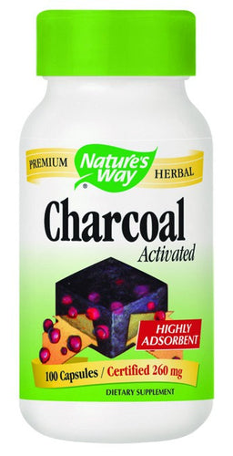 Dietary Supplement - Nature's Way Activated Charcoal Green Bottle 100 CAP
