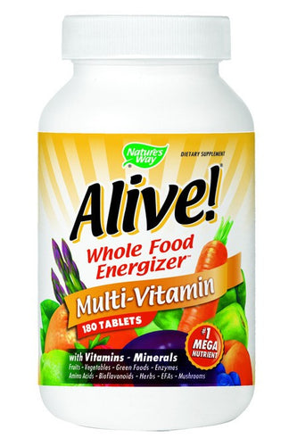 Dietary Supplement - Nature's Way Alive Whole Food Multi Vitamin 180 TAB
