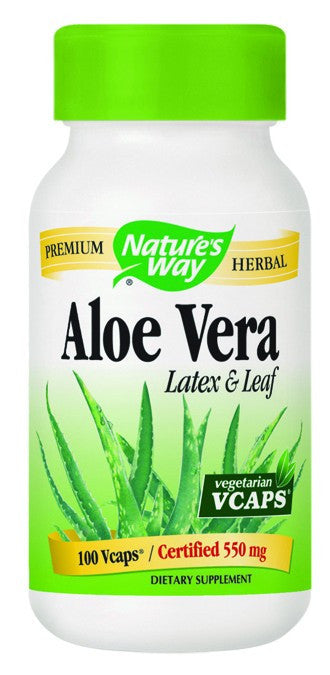 Dietary Supplement - Nature's Way Aloe Vera - 100 Veggie Caps