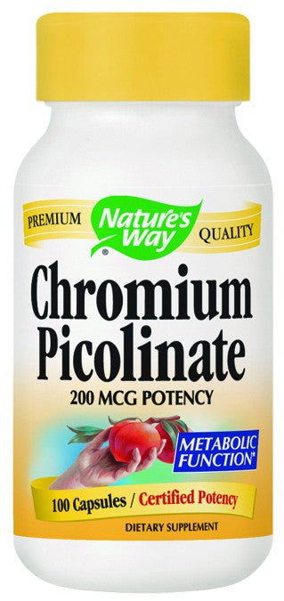 Dietary Supplement - Nature's Way Chromium Picolinate 100 CAP