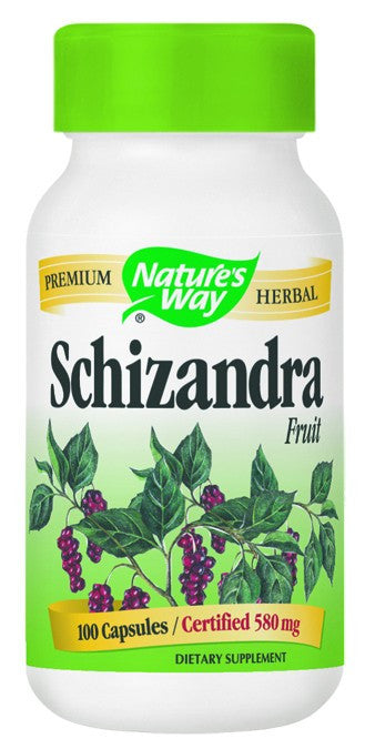 Dietary Supplement - Nature's Way Schizandra Fruit 100 CAP
