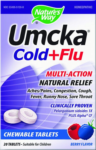 Dietary Supplement - Nature's Way Umcka Cold & Flu Berry Chew 20 CHW