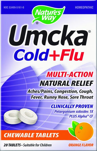 Dietary Supplement - Nature's Way Umcka Cold & Flu Orange Chew 20 CHW