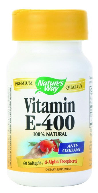 Dietary Supplement - Nature's Way Vitamin E 400 IU 60 SFG