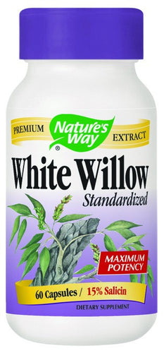 Dietary Supplement - Nature's Way White Willow Bark 60 CAP