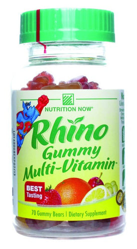 Dietary Supplement - Nutrition Now Rhino Gummy Bear Vitamins 70 Count