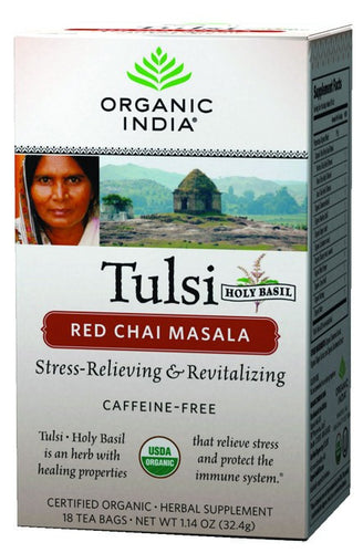 Dietary Supplement - Organic India Red Chai Masala Caffeine Free Tea 18 CT