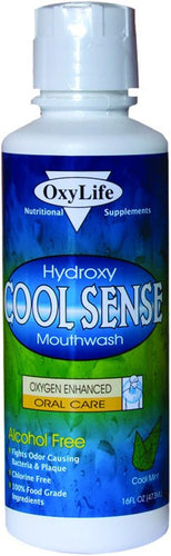 Dietary Supplement - Oxy Life CoolSense Hydroxy Mouthwash Mint 16 OZ