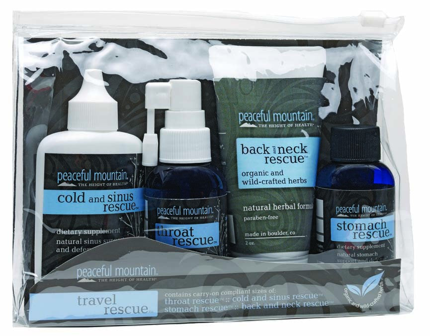 Dietary Supplement - Peaceful Mountain Travel Rescue Kit 4-Piece