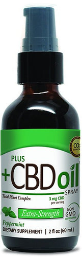 Dietary Supplement - Plus CBD Oil Peppermint Spray 500mg 2 OZ