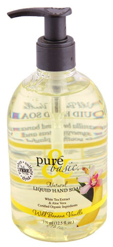 Dietary Supplement - Pure & Basic Banana Vanilla Liquid Hand Soap 12.5 OZ