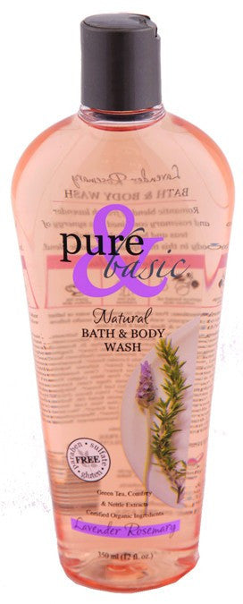 Dietary Supplement - Pure & Basic Lavender Rosemary Body Wash 12 OZ
