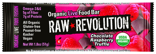 Dietary Supplement - Raw Revolution Raspberry Truffle Bar 12/BOX