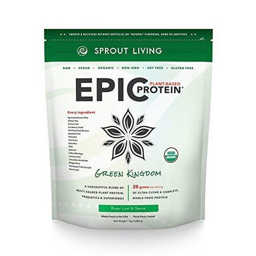 Dietary Supplement - Sprout Living Epic Protein Powder Green Kingdom 2.2 Lb