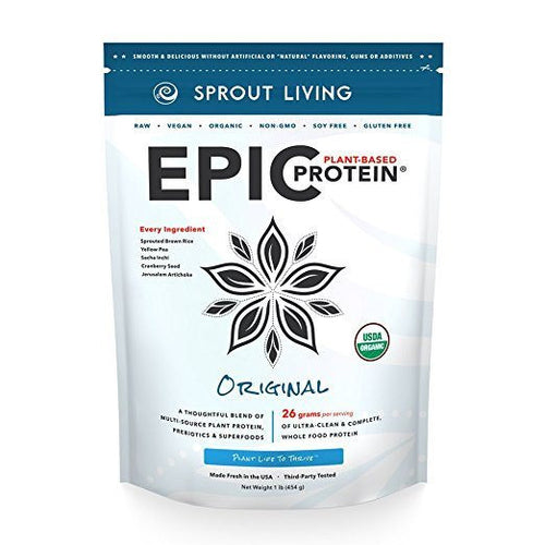 Dietary Supplement - Sprout Living Epic Protein Powder Original 1 Lb