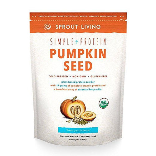Dietary Supplement - Sprout Living Simple Protein Pumpkin Seed Natural Powder 1 Lb