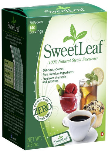 Dietary Supplement - Sweetleaf Stevia Packets With Fiber 70 PKTS