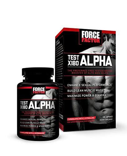 Dietary Supplement - Test X180 Alpha Free Booster To Increase Performance, Force Factor, 120 Count