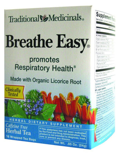 Dietary Supplement - Traditional Medicinals Breathe Easy Tea 16 BAGS