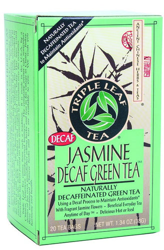 Dietary Supplement - Triple Leaf Tea Jasmine Green Tea Decaf 20 BAG