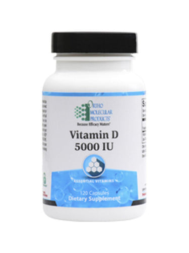 Dietary Supplement - Vitamin D3 - 5000 IU - 120 Capsules By Ortho Molecular Products
