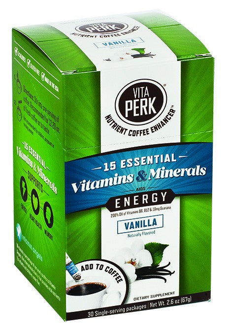 Dietary Supplement - Vitaperk Vitamin Coffee Enhancer Vanilla 30 PK