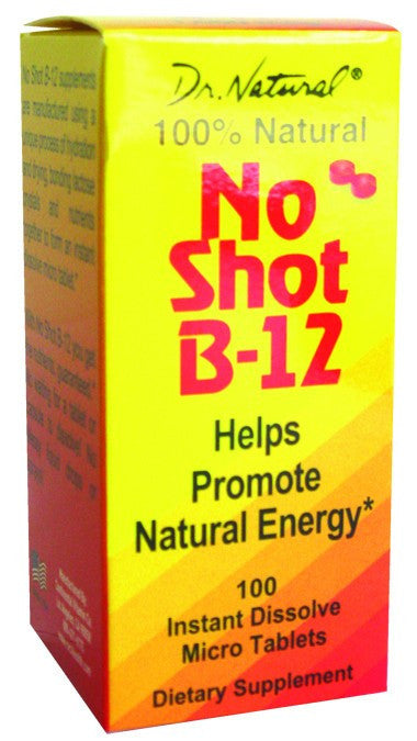 Dietary Supplement - World Organics No Shot B-12 1000mcg Sublingual 100 T