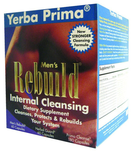 Dietary Supplement - Yerba Prima Men's Rebuild Internal Cleanse