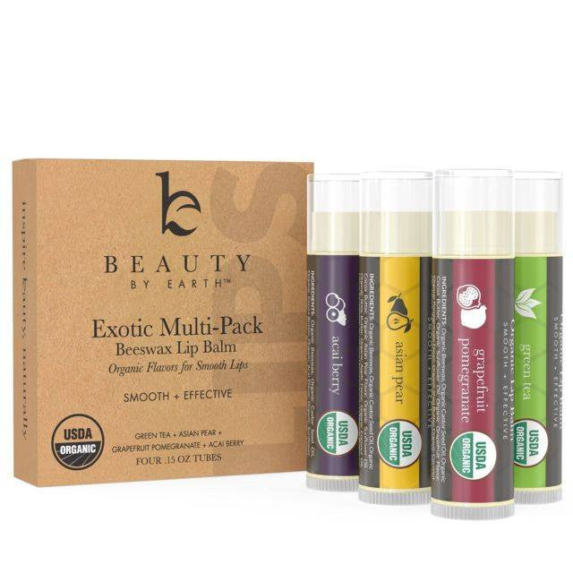 Personal Care - Beauty By Earth Lip Balm - Exotic Organic 4-Pack