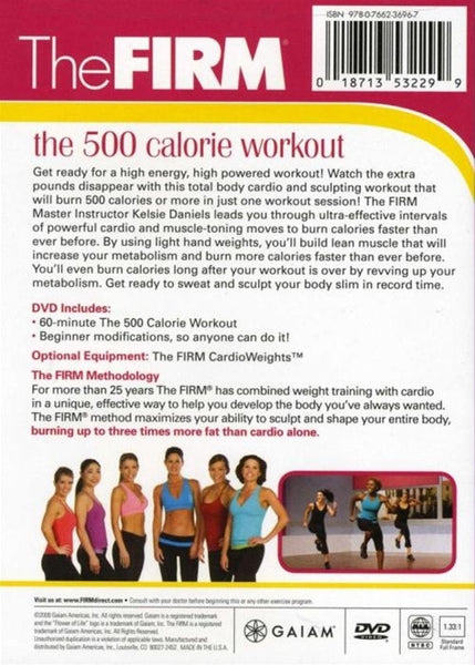 The Firm 500 Calorie Workout DVD