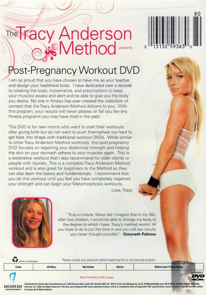 Tracy Anderson Method - Post Pregnancy Workout