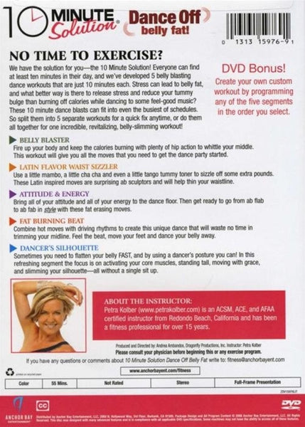 10 Minute Solution Dance Off Belly Fat Petra Kolber DVD