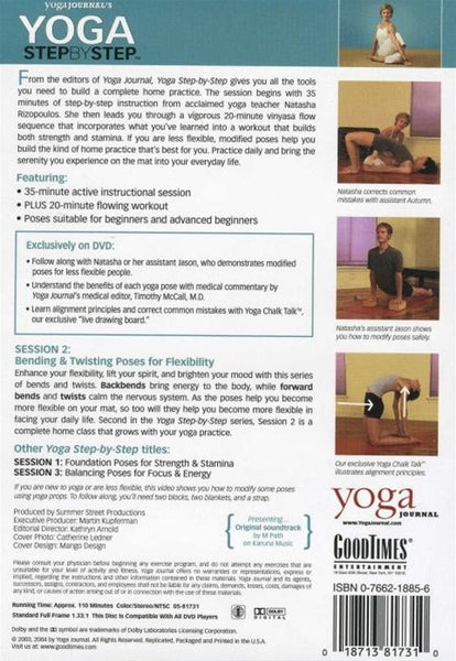 Yoga Journal Step By Step Session 2 DVD Bending Poses