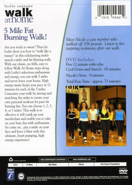 Leslie Sansone Walk At Home 5 Mile Fat Burning DVD