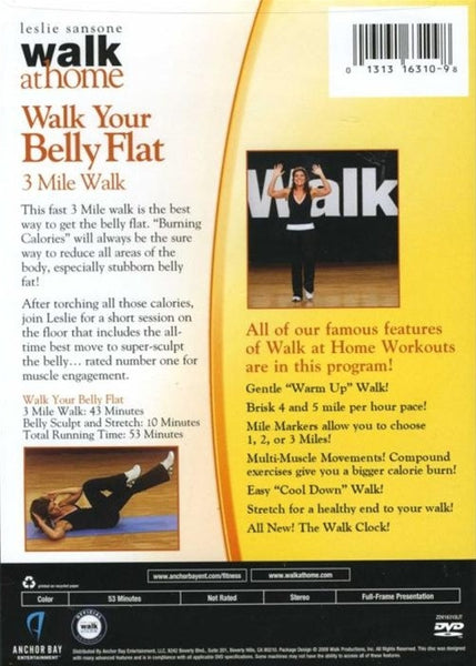 Leslie Sansone Walk At Home Walk Your Belly Flat DVD