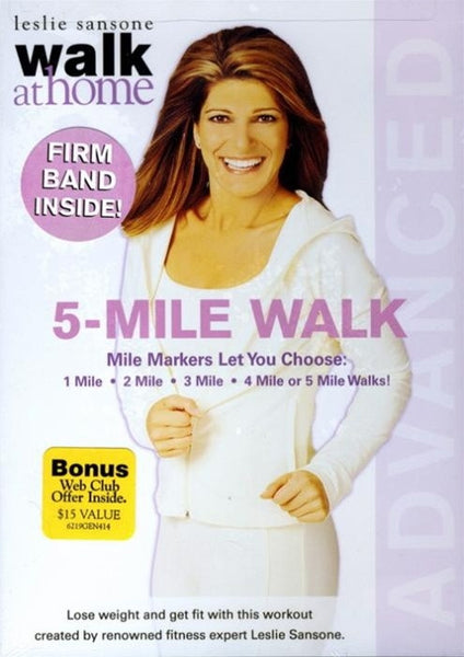 Leslie Sansone Walk At Home 5 Mile DVD With Band
