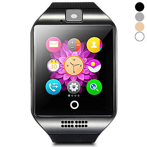 Compass Bluetooth GSM Smart Watch Phone-Q18NFC Black